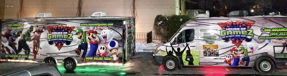 Birthday party with a video game truck in South Jersey, Philadelphia and Delaware
