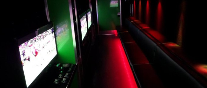 The Game Truck is spacious and loaded with high-tech FUN...